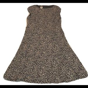 Ann Klein Animal Print Dress, Fit/Flare Brown/Tan
